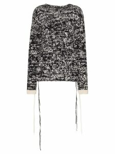 Joseph hand-knitted jumper - Black