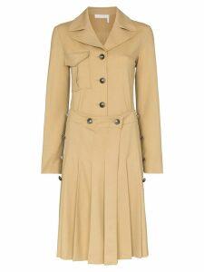 Chloé pleated shirt dress - NEUTRALS