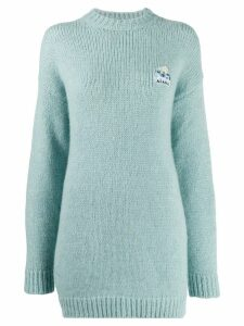 Alanui Arctic slogan knit jumper - Blue