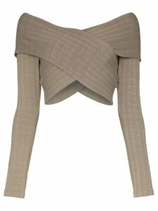 Mara Hoffman Noemi wrap-style crop top - Grey
