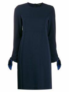 Antonelli knot-sleeve shift dress - Blue