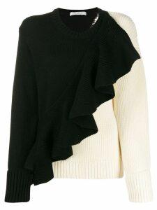 Philosophy Di Lorenzo Serafini asymmetric ruffle detail sweater -