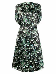 Mm6 Maison Margiela floral print midi dress - Black