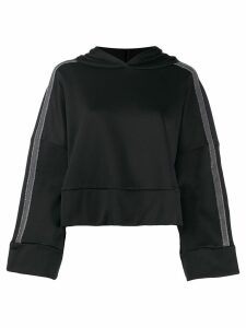 Fabiana Filippi glitter stripe hoodie - Black