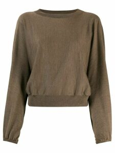 Fabiana Filippi round neck jumper - Brown
