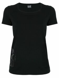 Ea7 Emporio Armani logo T-shirt - Black