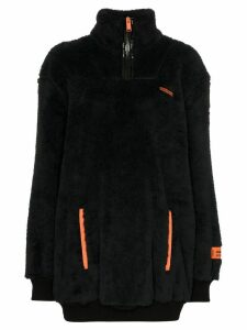 Heron Preston half-zip fleece jumper - Black