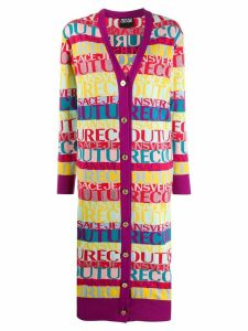 Versace Jeans Couture logo colour-block cardigan - Yellow