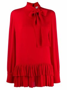 Valentino pussy bow ruffled blouse - Red