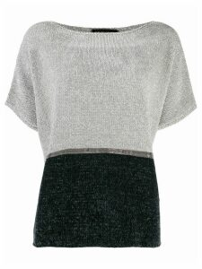 Fabiana Filippi two-tone knit T-shirt - Grey