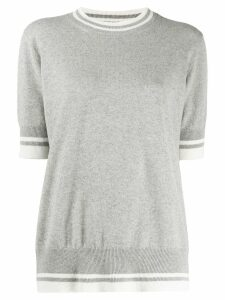 Fabiana Filippi striped ribbed jumper - Grey