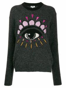 Kenzo eye embellished sweater - Grey