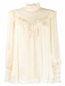 Zimmermann Espionage lace blouse - NEUTRALS