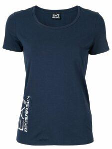 Ea7 Emporio Armani logo T-shirt - Blue