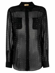 LIU JO studded sheer shirt - Black