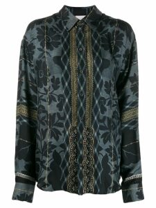 Pierre-Louis Mascia all-over print shirt - Black