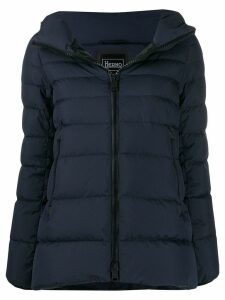 Herno short hooded zip-up jacket - Blue