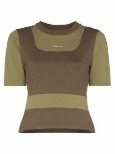 Ambush panelled logo print T-shirt - Green