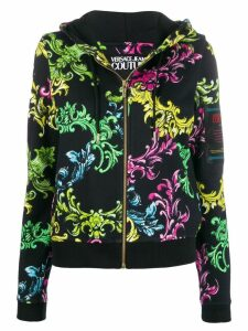 Versace Jeans Couture multi-coloured print hoodie - Black