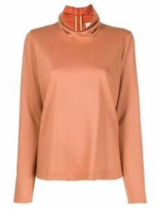 Forte Forte ruffled-neck sweater - NEUTRALS