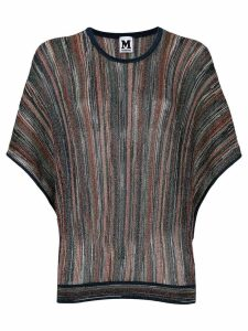 M Missoni shimmer knit jumper - Blue