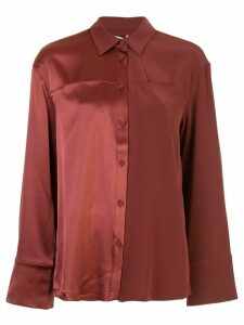 Co panelled pyjama style shirt - Red