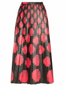 Marni pixel-print pleated midi-skirt - Black