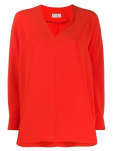 Alberto Biani V-neck blouse - Red