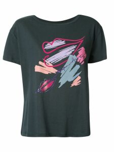 Emporio Armani branded lips T-shirt - Green
