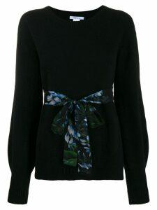 Blumarine belted bell sleeve sweater - Nero.