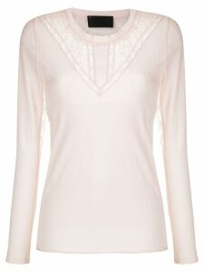 Andrea Bogosian lace panels long sleeved blouse - PINK