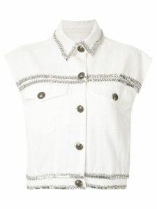 Andrea Bogosian Paiva embroidered vest - White
