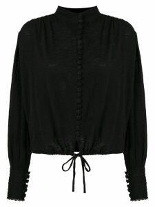 Andrea Bogosian drawstring high neck blouse - Black