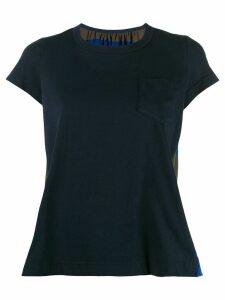 Sacai printed logo T-shirt - Black