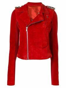 Rick Owens biker jacket - Red