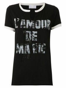 Andrea Bogosian printed embellished blouse - Black