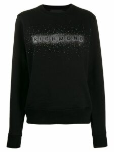 John Richmond embellished logo sweatshirt - Black