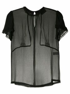 Andrea Bogosian sheer silk blouse - Black