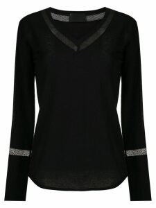 Andrea Bogosian lace panels blouse - Black