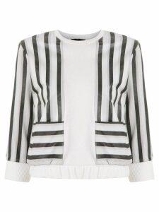 Andrea Bogosian leather panelled sweatshirt - White