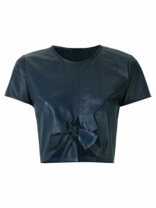 Andrea Bogosian leather cropped top - Blue