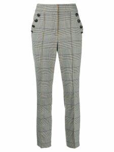 Veronica Beard Virgil houndstooth trousers - White