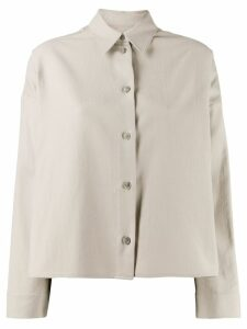 Mm6 Maison Margiela cropped button-down shirt - NEUTRALS