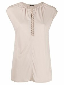Joseph button detail tank top - NEUTRALS
