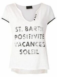 Andrea Bogosian Posli printed T-shirt - White