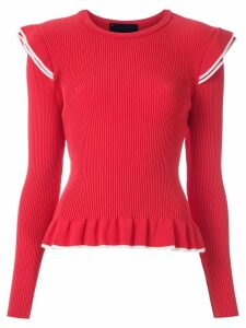Andrea Bogosian long sleeves knitted blouse - Red