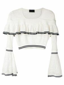 Andrea Bogosian Pires knit blouse - White