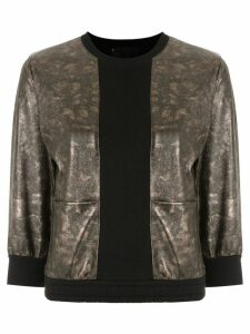Andrea Bogosian leather panelled sweatshirt - Metallic
