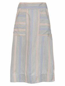 Olympiah Piaggia midi skirt - Blue