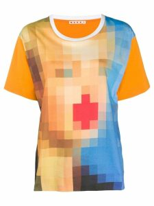 Marni digital print oversized t-shirt - Orange